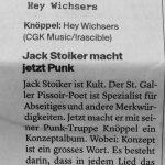 """Review von """"Hey Wichsers"""" in der Luzerner Zeitung"""